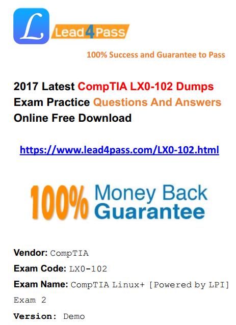 LX0-102 dumps