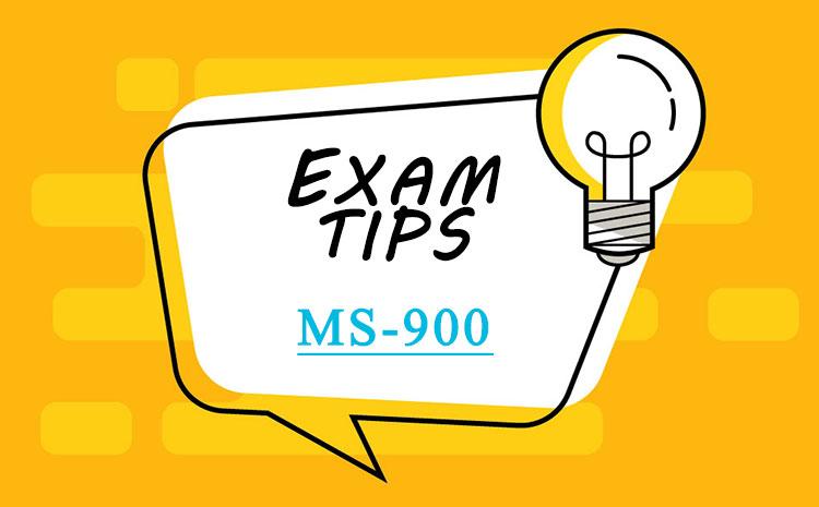 microsoft ms-900 exam tips